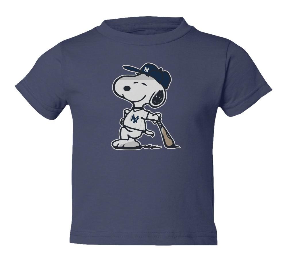 Snoopy Baseball NY Yankees Toddler T-Shirt