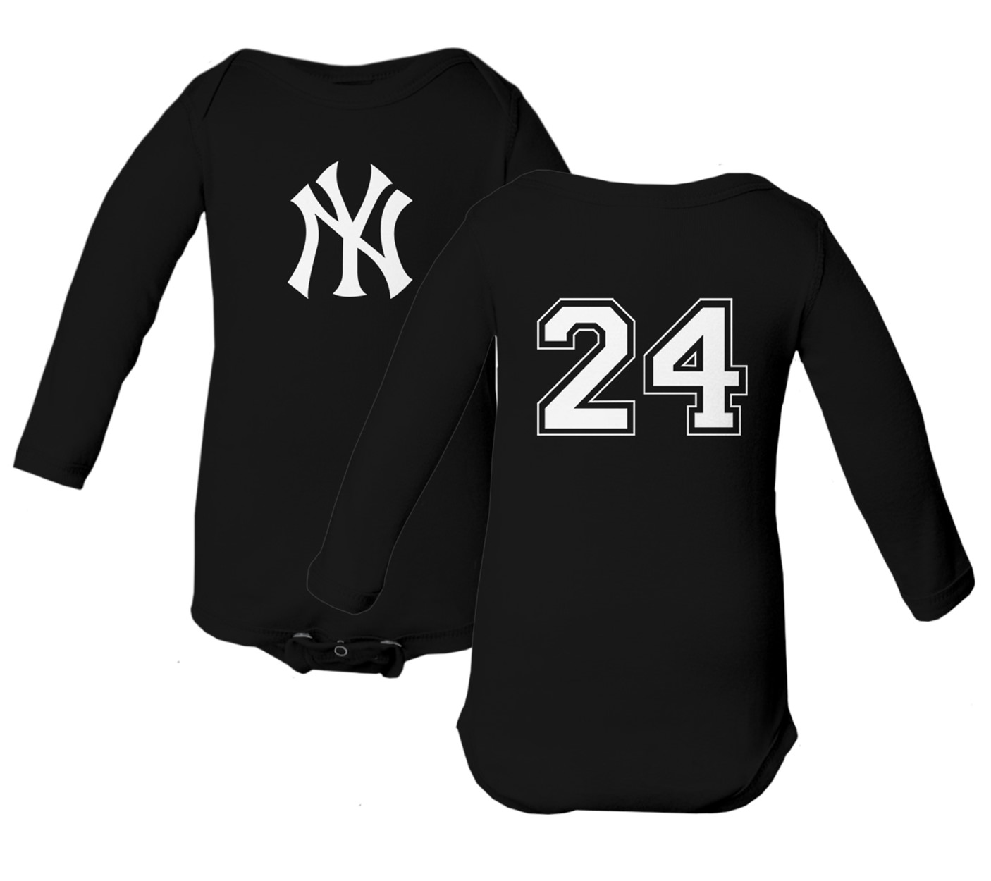 newest 589da 0eb1a Details about NY Yankees Gary Sanchez 24 Jersey Baby Long Sleeve Bodysuit