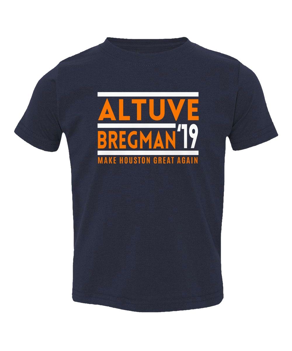 Jose Altuve Alex Bregman Houston Astros 2019 Youth Long Sleeve T-Shirt