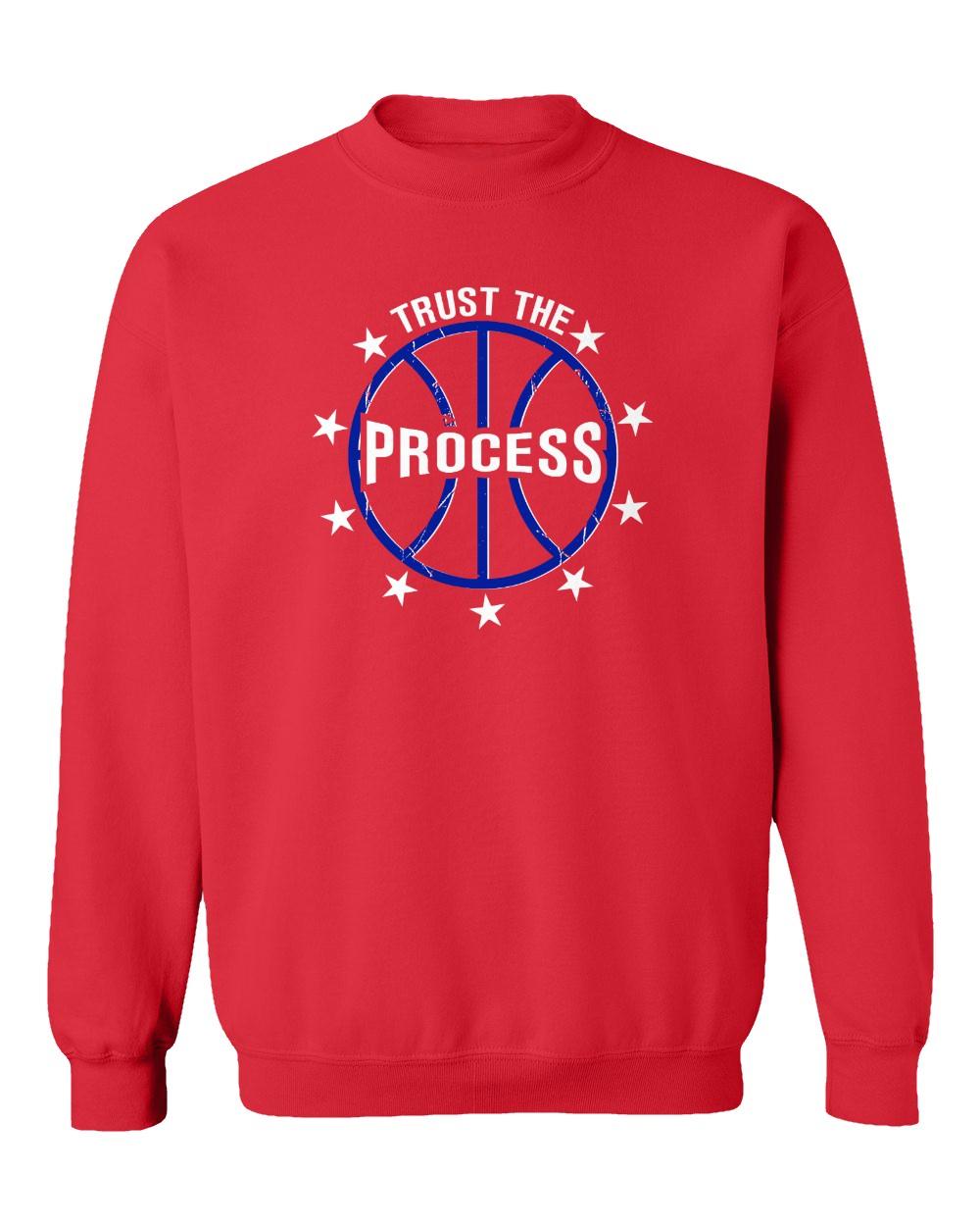 "BLACK Philadelphia 76ers /""Trust the Process Logo/"" Joel Embiid  Hooded SWEATSHIRT"