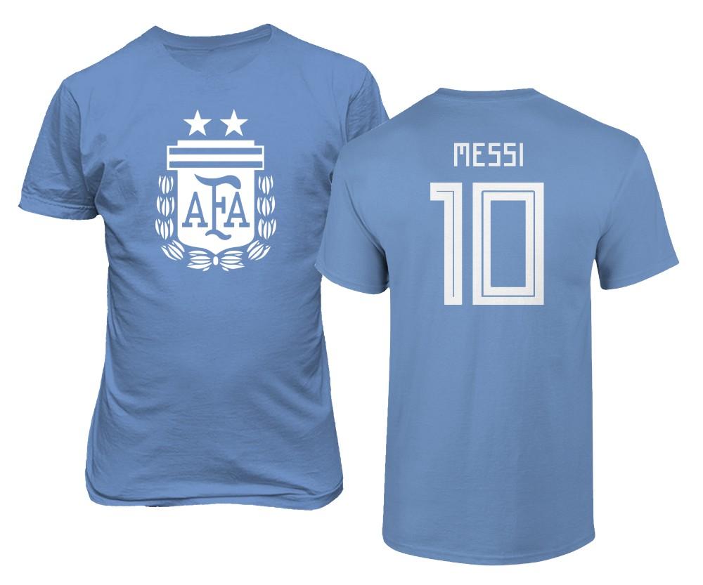 official photos a678f 18293 Details about Argentina 2019 Soccer #10 Lionel MESSI Copa America Men's  T-shirt