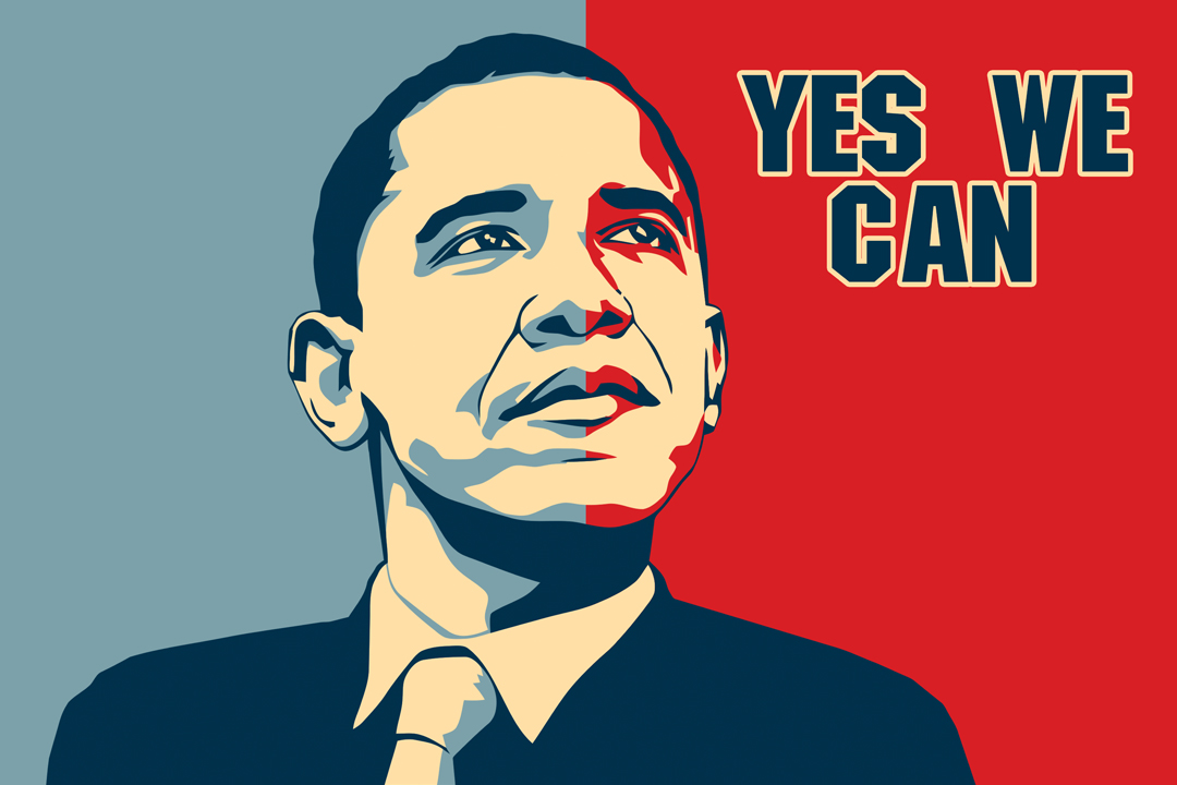Barack Obama Yes We Can Art Wall Indoor Room Outdoor Poster Poster 24x36 Ebay