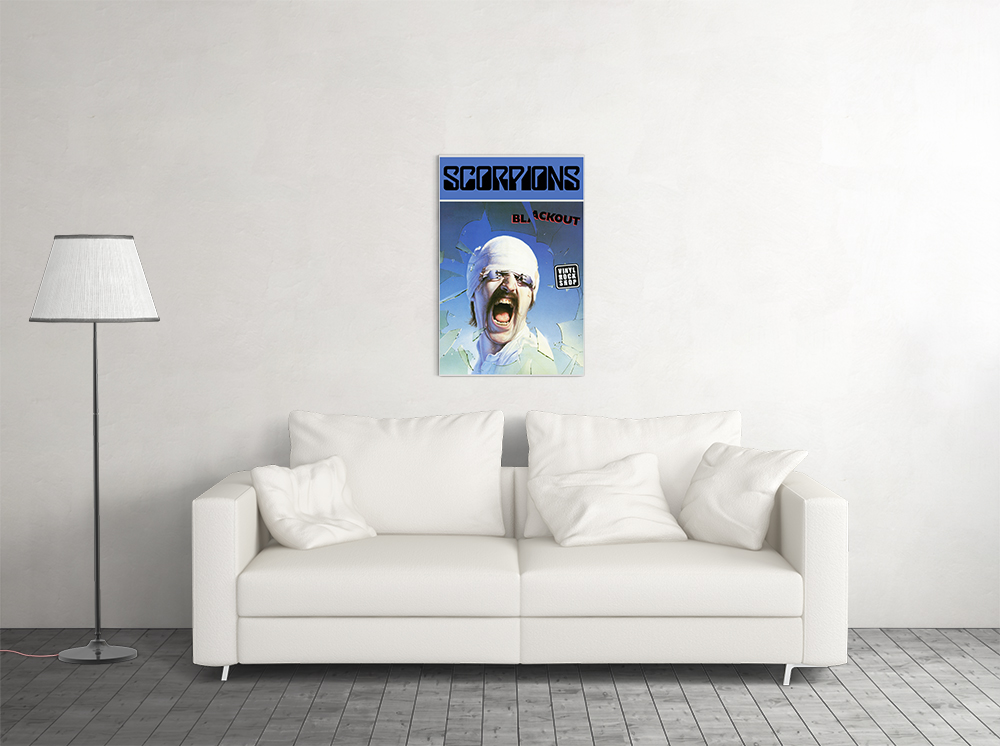 """Scorpions Blackout Laminated Poster 24.5/"""" x 36.5/"""""""
